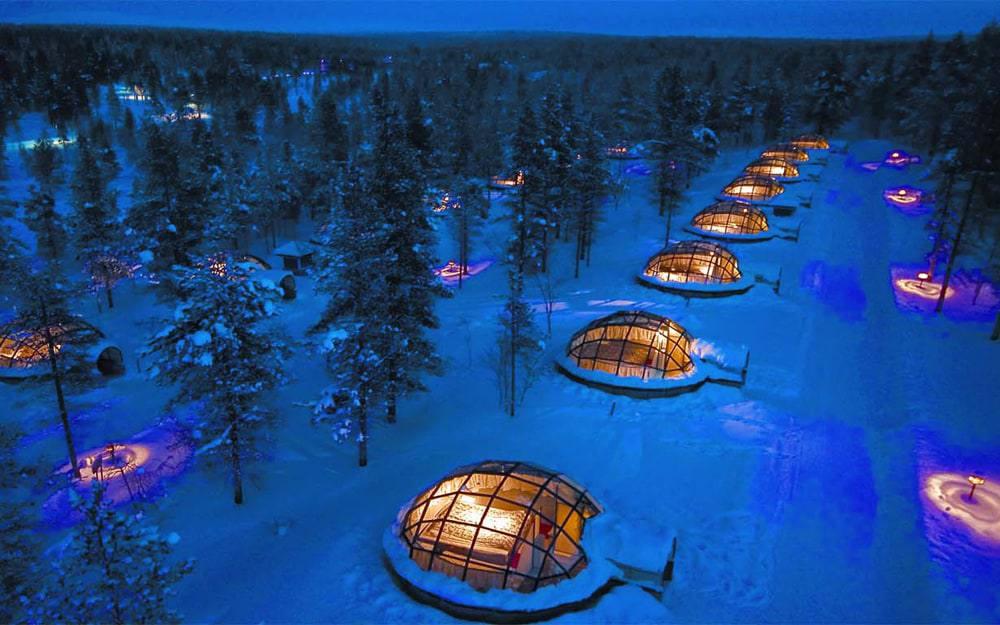 Отель Kakslauttanen, Саариселькя, Финляндия