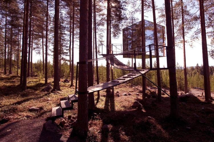 Treehotel. Харадс, шведская Лапландия, Щвеция
