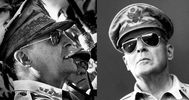 генерал Дуглас Макартур и Ray-Ban